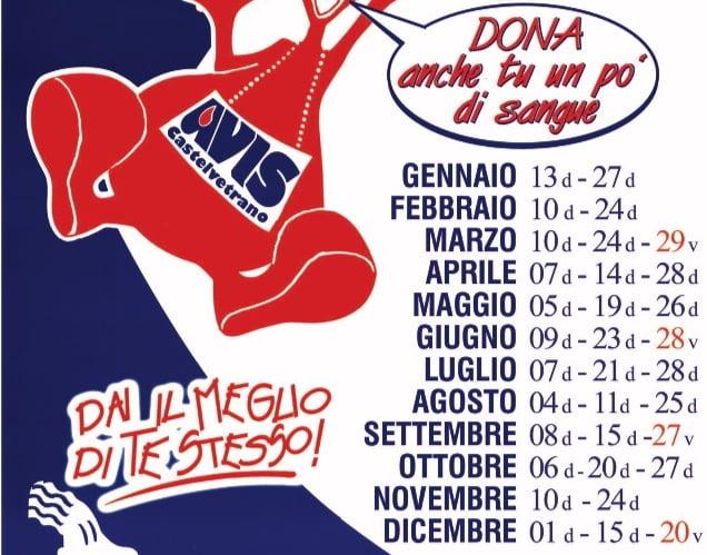 Calendario AVIS Castelvelvetrano