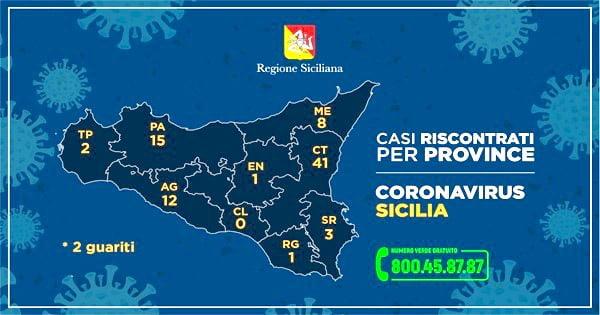 Cartina Carta Tematica Sicilia.Sicilia Casi Coronavirus Per Ogni Provincia Mappa