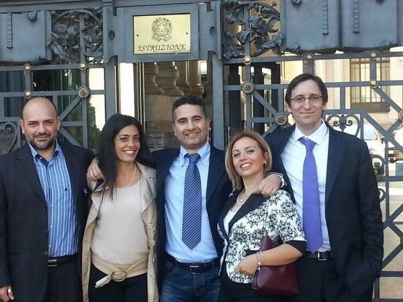 Da sinistra a destra: Angelo Palumbo (Campania), Maria Luisa Bove (Campania), Giuseppe Curia (Sicilia, Castelvetrano), Annalisa Paratore (Siracusa, Sicilia), Enrico Defranchi (Liguria)
