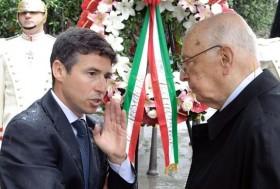 Mafredi Borsellino e Giorgio Napolitano - ANSA