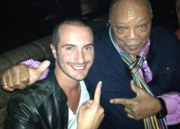 Alessandro Pera con Quincy Jones, leggenda della musica black di tutti i tempi