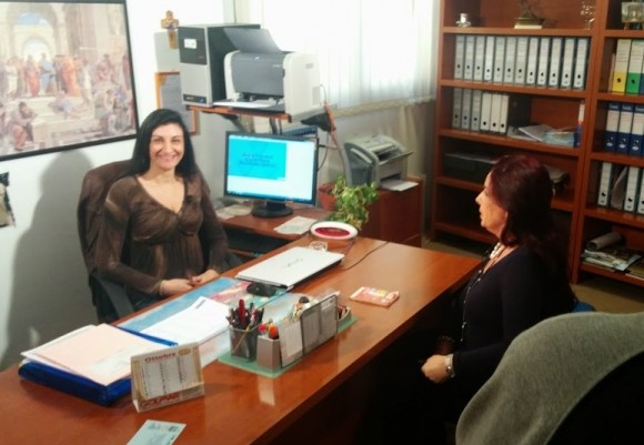 Elena Ferraro con Maria Grazia Mazzola