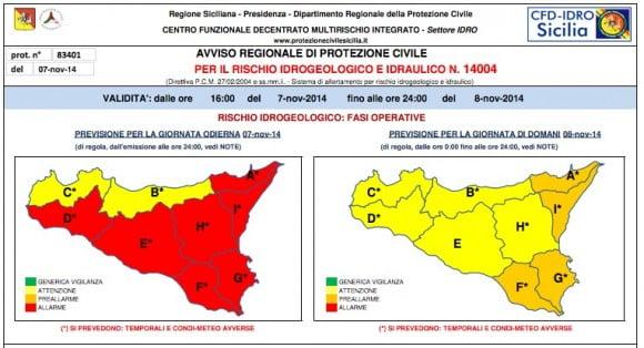 allarme meteo protezione civile novembre 2014 2