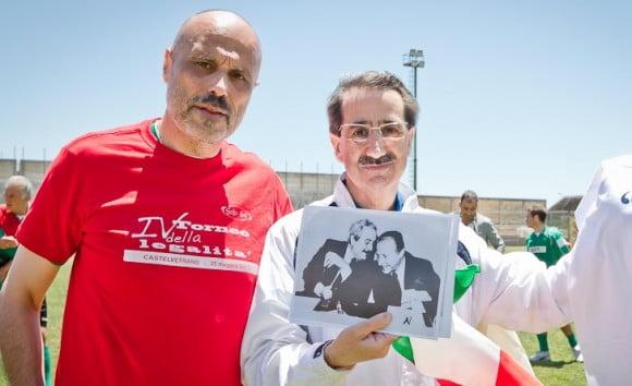 Antonio Zanda con il procuratore Viola