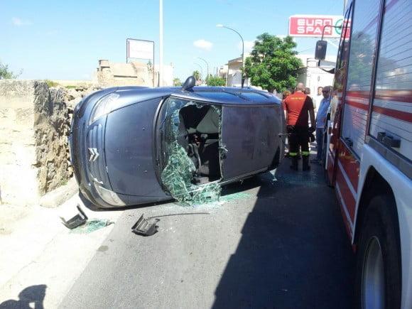auto ribalda castelvetrano incidente