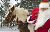babbo natale a cavallo