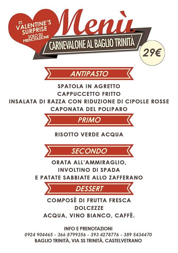 carnevalone trinita menu