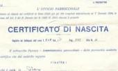 certificato di nascita