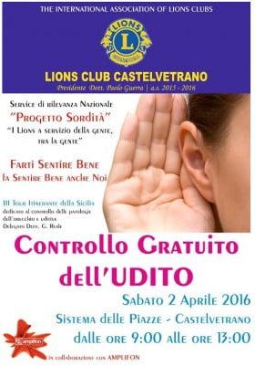 controllo udito castelvetrano