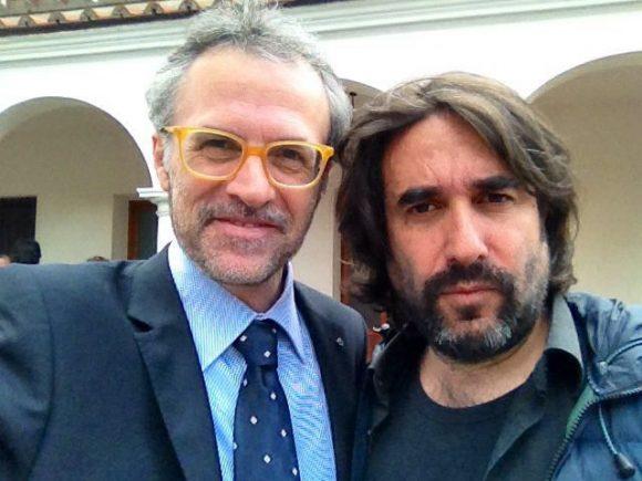Fabrizio con il regista Fabrizio Maria Cortese