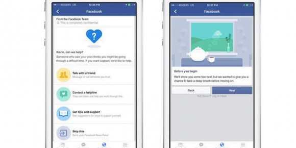 facebook opzione suicidio