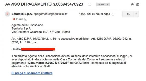 false-email-equitalia