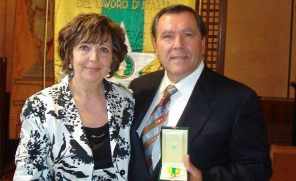 Filippo Leggio con la moglie