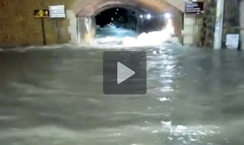 fiume maltempo stazione castelvetrano