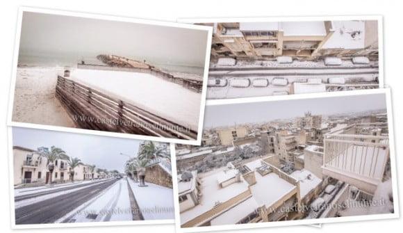 foto nevicata castelvetrano