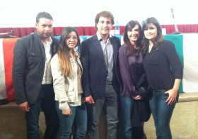 da sinistra: Nicola D'Aguanno, Jessica Marino, Davide Brillo, Sabina Bonelli (candidata alle Europee), Corinne Tamburello.