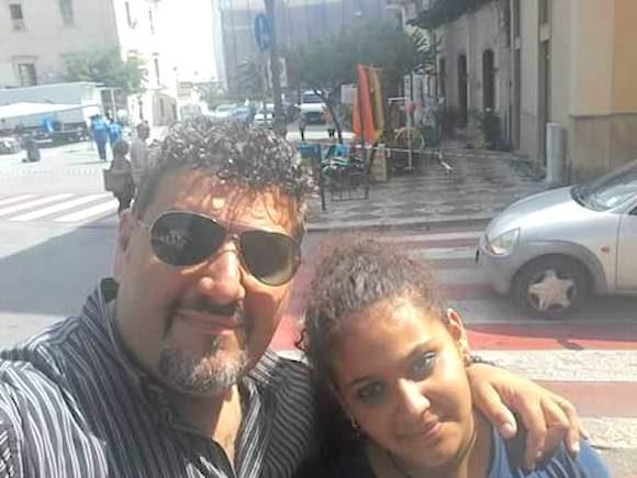 Giuseppe Catalano con la figlia Ilenia