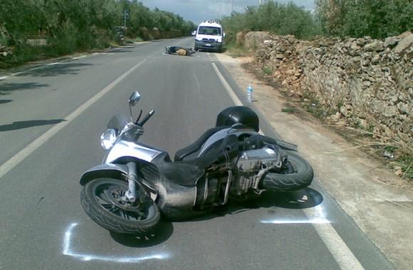 incidente castelvetrano moto