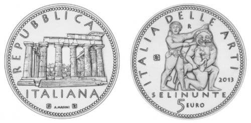 moneta 5 euro selinunte