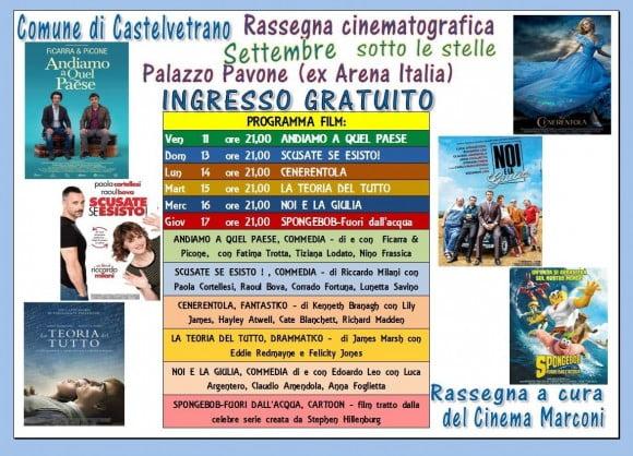 programma cinema all'aperto