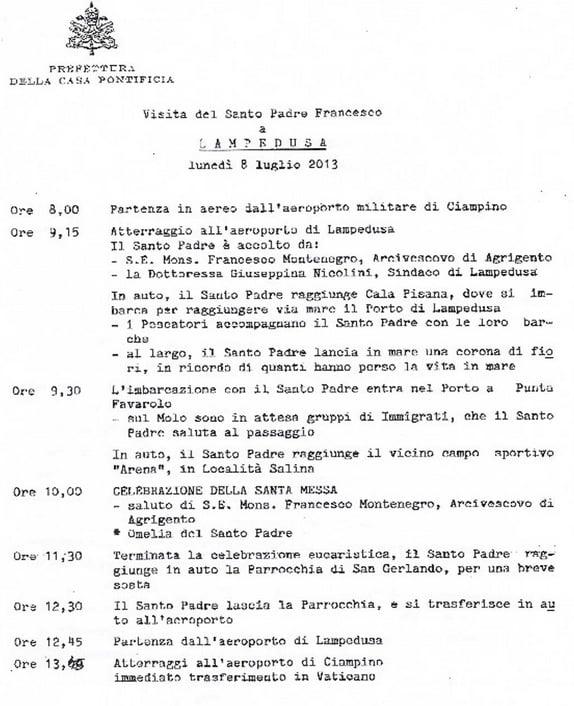 programma papa francesco sicilia