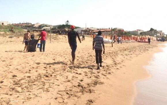 pulizia spiaggia triscina 2
