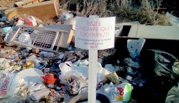 rifiuti via delle sirene selinunte 2