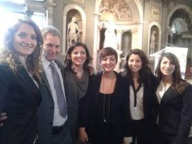 durante l'evento a Firenze